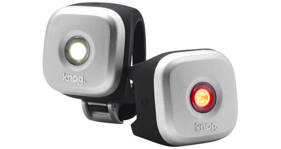 Knog Blinder 1 Zestaw oświetlenia rowerowego podwójna paczka srebrny